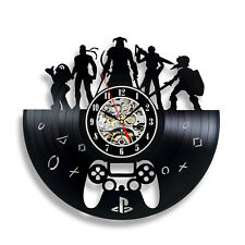 Wall Clock Gift for Gamer Vinyl Game Record Video Decor Art Gamepad Home Fantasy