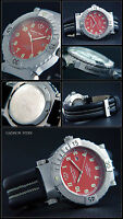 T-Force Automatic Watch Gadison Stern Sporty in Red NEW