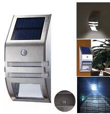 Wireless PIR Motion Sensor Solar LED Security Flood Wall Garden Outdoor Light