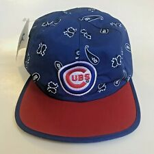Vintage Chicago Cubs Starter Reversible Bandana Hat Cap Head Wear with Tag