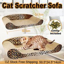 Cat Scratcher Scratching Board Corrugated Cardboard Scratch Bed Toy Pad Mat Post