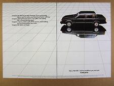 1985 Volvo 760 GLE black sedan car photo vintage print Ad