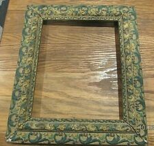 """Antique Ornate Hand Painted Wooden Picture Frame old Victorian 10"""" X 8"""" Inner"""