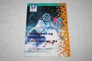1994 Winter Olympics Games PROGRAM * in Norwegian & English * Lillehammer Norway