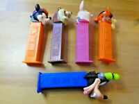 LOT OF 5 PCS PEZ DISPENSER CANDY WALT DISNEY RARE FIGURE/FIGURINE SET #003