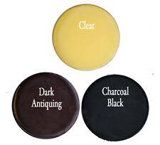 Chalk Painting Waxes 1 6 oz tin clear wax, 1 4 oz black & 1 4 oz dark antiquing