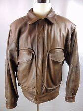 Vintage Rocky Mountain Sheepskin Co. Men's Brown Bomber Jacket Coat Lined