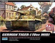 Academy 1/35 GERMAN TIGER-I Ver MID Tank Armor Plastic Model Kit Military 13287