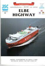 Card Model Kit –Car Carrier Elbe Highway