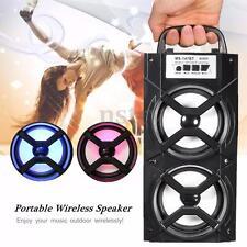 Bluetooth LED USB AUX TF FM Radio Portable Outdoor Wireless Super Bass Speaker