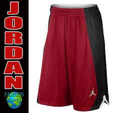Nike Men's AIR JORDAN Basketball Shorts Jumpman RED/BLACK 820645 SIZE XL