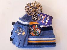 Space Jam Looney Tunes 2pc Youth Kids Beanie Winter Hat & Glove Set New