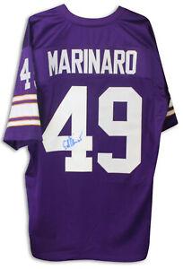 Autographed Ed Marinaro Purple Throwback Jersey