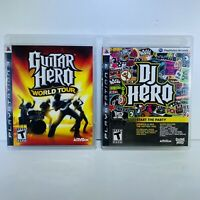 2 Game PS3 Lot-Guitar Hero:World Tour, & DJ Hero-Tested & Works-Complete