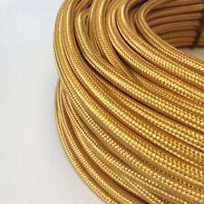Textilkabel, Stoffkabel, Textilleitung, rund, gold 3x0,75mm² H03VV-F