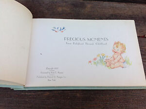 Antique 1937  Baby Boy Precious Moments Book - Birth to Age Fourteen