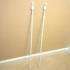 Lot of 2 New Retail 12 Clips Slatwall Mount Clipper Display Single White Strip