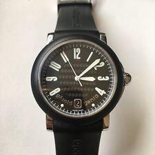 Authentic Gerald Genta Steel, Rubber & Carbon Fiber Timepiece With Original BOX