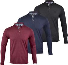 Mens Long Sleeve Plain Polo Shirt Top Cotton Smart S M L XL XXL