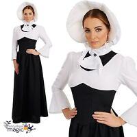 Ladies Womens Rich Victorian Edwardian Woman Fancy Dress Costume Outfit & Bonnet