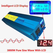 PURE SINE WAVE 3000W MAX 6000W 12V-240V WATT POWER INVERTER CAR CARAVAN CAMPING