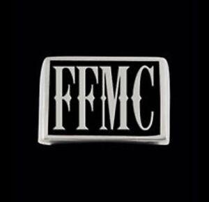 Stainless Steel FFMC Letter Biker Ring Rectangle Blk Enamel Custom Size TL-051SS