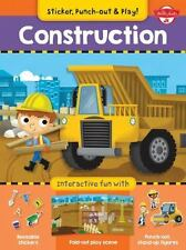 Construction: Interactive fun with fold-out play scene, reusable stickers, and p