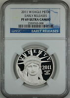 2011 W Platinum American Eagle Coin, NGC PF-69 Ultra Cameo, Early Release