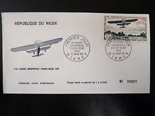 NIGER  AERIEN 83   PREMIER JOUR FDC     AVION BIPLAN BREGUET 27      45F    1968