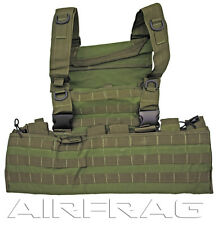 Taigear 25042OD Green MOLLE Web Tactical Vest 12 straps 9 pockets & Drag Handle
