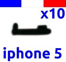 10 cache anti-poussière NOIR lightning capuchon bouchon jack pour iphone 5 5C 5S