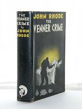 John Rhode - The Venner Crime 1st Edition 1933 HB DJ
