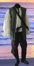 Renaissance Pirate MENS COTTON Tunic Pants COSTUME green/brown S M L XL XXL
