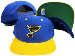 St. Louis Blues Reebok Blue/Yellow Adjustable Plastic Snap Back Cap