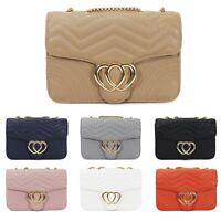 Women's Heart Design Crossbody Bag Ladies Messenger Evening Shoulder Handbag