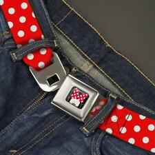 Buckle Down Seatbelt Belt - Disney Minnie Mouse Red White Polka Dots Made in USA