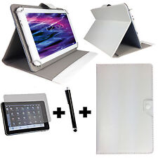 10.1 zoll Tablet Tasche +Folie+ Stift Asus Transformer Pad TF101 3in1 Weiß 10