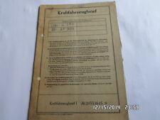 INFORME DE ÉPOCA 1959 NSU Fiat nsckar1100 103h weinsberg Hoja de datos MO