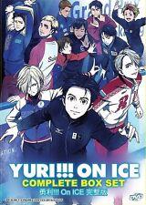 DVD Anime YURI!!! ON ICE Complete Series ( Vol. 1-12 End ) English Subtitles