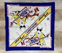 Vintage 80s Spuds Mackenzie Bud Light Bandana Handkerchief Budweiser 1988