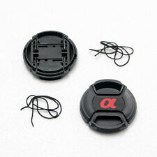 2X 77mm Front Lens Cap For Sony Others DSLR Lens With Cord Center-Pinch Snap-On