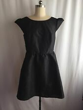 eshakti black sheen cap-sleeve cocktail dress size 2X excellent condition!