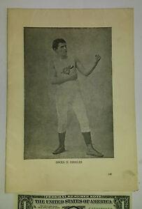 Rare vintage boxing box folding print poster sheet Jackson Choynski McCaffrey