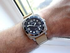 Divers Fat Face Watch Two straps 100M Chunky Solid  Case 41mm Bezel All S/S VGC