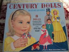 Century Dolls 8 Paper Dolls. Queen Holden. Wardrobes of Civil War Years. Uncut