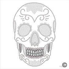 Strass motif crâne strass cristal Transfert Fer Sur Hotfix Applique Patch