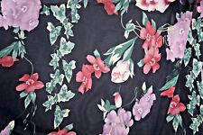 2 y Silk Chiffon Floral Apparel Fabric Ivy Flower Fashion Fabric Bfab