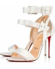 Christian Louboutin Multipot 100 Ankle Strap Sandals PUMPS Shoes 40 HEELS