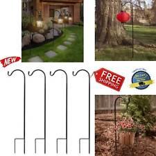 Garden Shepard Hooks Shepherd 4 Pc Metal Hanging Plant Mason Lantern Decoration
