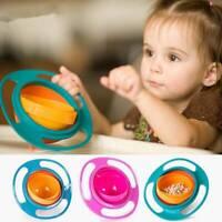 Toddler 360° Gyro Rotating Non-Spill  Kids Baby Feeding Bowl Avoid Food Spilling